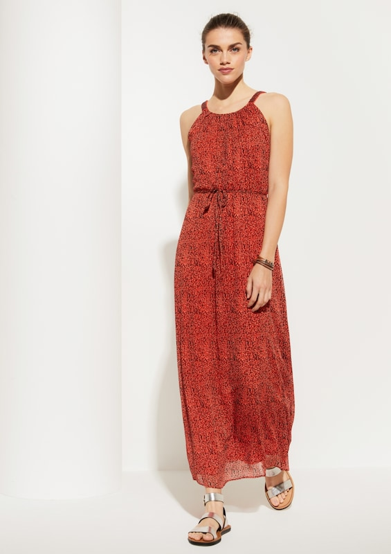 COMMA Kleid in orange / rostrot / schwarz | ABOUT YOU