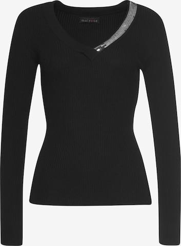 MELROSE Pullover in Schwarz