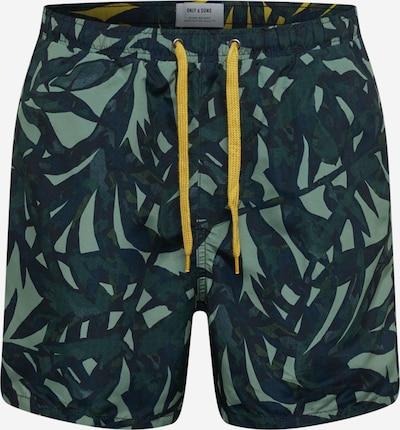 Only & Sons Plavecké šortky 'Ted' - zelená / světle zelená, Produkt
