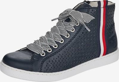 RIEKER Zapatillas deportivas altas en azul oscuro / rojo / blanco, Vista del producto