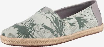 TOMS Espadrilles 'Alpargata' in greige / hellgrau / grün / pastellgrün, Produktansicht