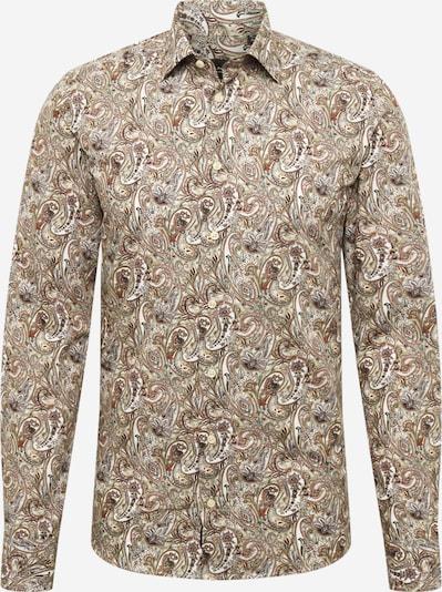SAND COPENHAGEN Košile 'Iver 2' - béžová / rezavě hnědá / žlutá / lososová, Produkt