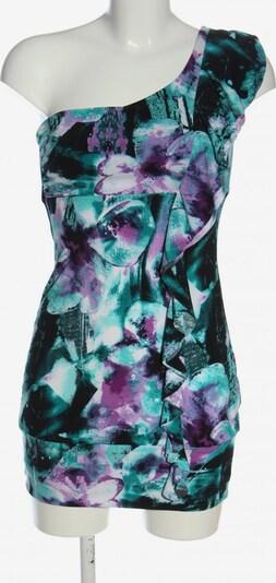 Jane Norman One-Shoulder-Kleid in L in türkis / lila / schwarz, Produktansicht