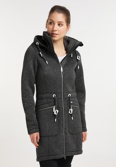 ICEBOUND Manteau mi-saison en gris chiné, Vue avec modèle