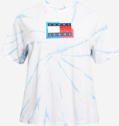 Tommy Jeans Curve Shirt in hellblau / dunkelblau / rot / weiß, Produktansicht