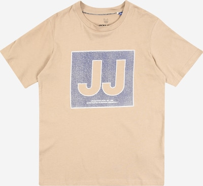 Jack & Jones Junior Shirt 'JCotube' in creme / blau, Produktansicht
