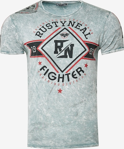 Rusty Neal T-Shirt Crewneck mit coolem Print in grau, Produktansicht