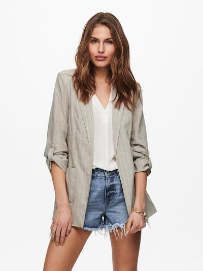 ONLY Blazer 'Kayla-Elaria' in greige / weiß, Modelansicht