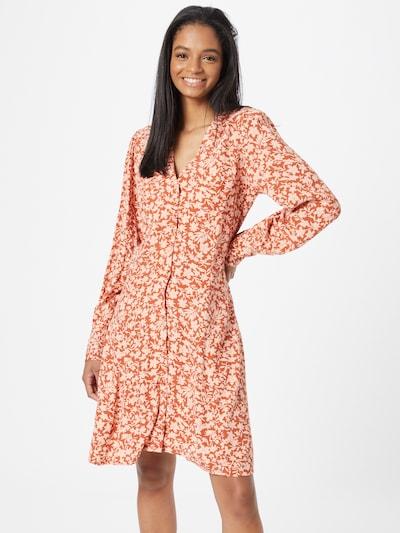 Y.A.S Kleid 'BOMA' in rostbraun / weiß, Modelansicht