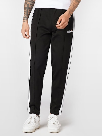 Pantaloni 'Zania' ELLESSE pe negru / alb, Vizualizare model