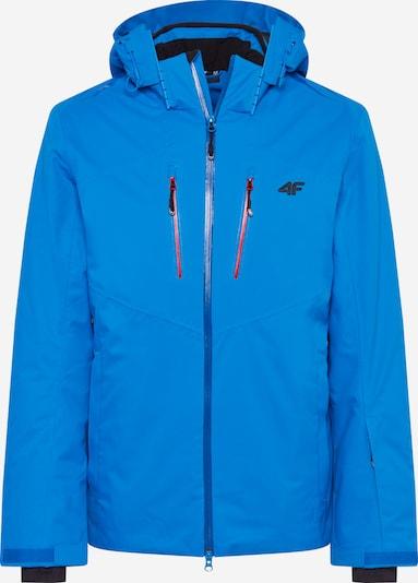 4F Outdoorjas in de kleur Lichtblauw / Rood / Zwart, Productweergave