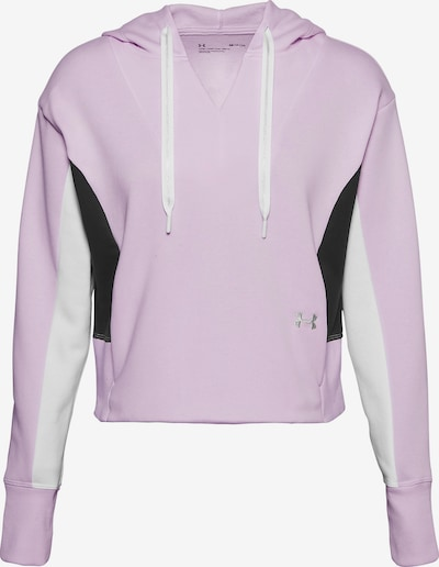 UNDER ARMOUR Sportief sweatshirt ' Rival' in de kleur Lila / Zwart / Wit, Productweergave
