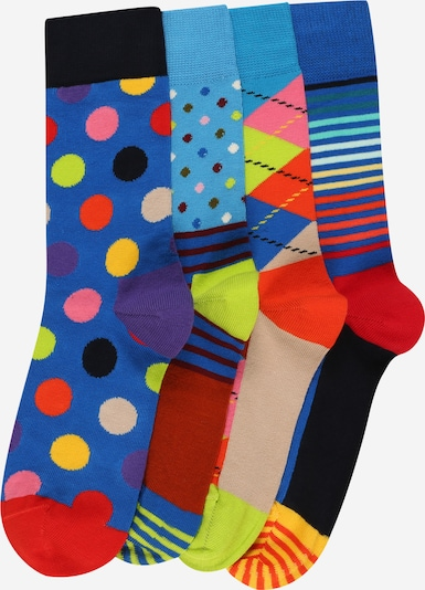 Happy Socks Socks in marine blue / Sky blue / Peach / Light orange / Fire red, Item view