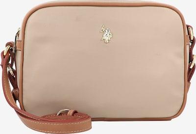 U.S. POLO ASSN. Sac à bandoulière en beige / marron / or, Vue avec produit