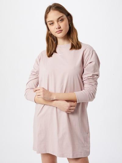 Nike Sportswear Kleid in champagner / weiß, Modelansicht