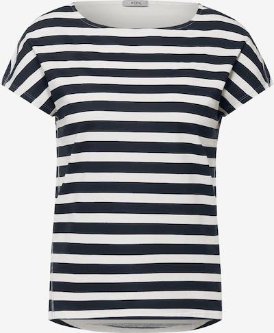 CECIL T-Shirt in navy / weiß, Produktansicht