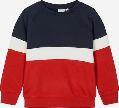 NAME IT Sweatshirt 'SNEELO' in nachtblau / rot / weiß, Produktansicht