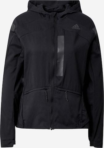 ADIDAS PERFORMANCE Athletic Jacket 'Marathon' in Black