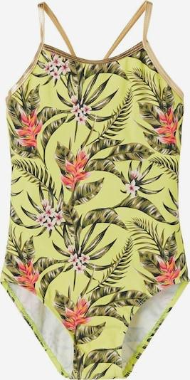 NAME IT Бански костюм в лимоненожълто / Каки / корал / бяло, Преглед на продукта