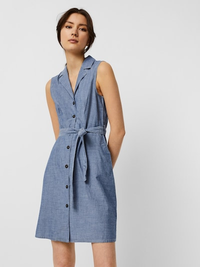 VERO MODA Kleid 'AKELASANDY' in blue denim, Modelansicht