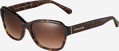 COACH Sonnenbrille '0HC8232' in kastanienbraun / ocker, Produktansicht