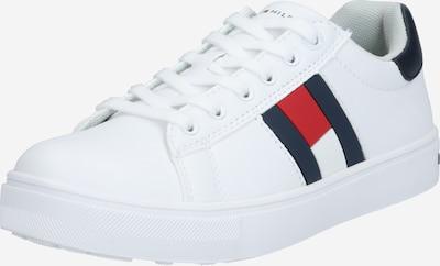 TOMMY HILFIGER Sneaker in dunkelblau / melone / weiß: Frontalansicht