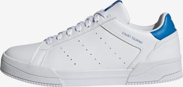 balts ADIDAS ORIGINALS Zemie brīvā laika apavi 'Court Tourino'