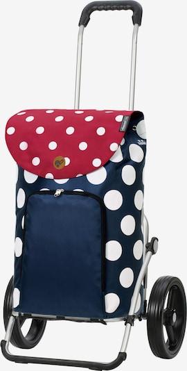 Andersen Shopper Cabas 'Dots ' en bleu foncé / rouge / blanc, Vue avec produit