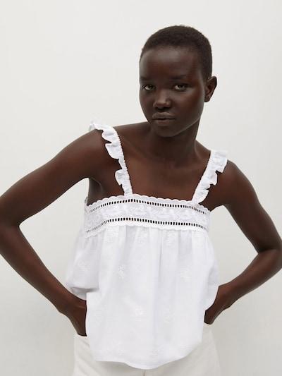 MANGO Top 'ISABELLA' in offwhite, Modelansicht