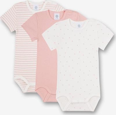 SANETTA Barboteuse / body en rose / blanc, Vue avec produit