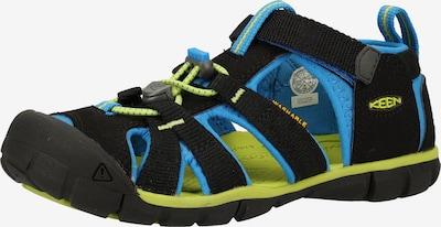 KEEN Sandalen in hellblau / hellgrün / schwarz, Produktansicht