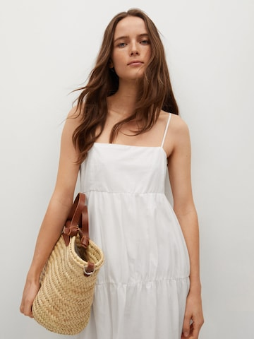 MANGO Summer Dress 'Ceci' in White