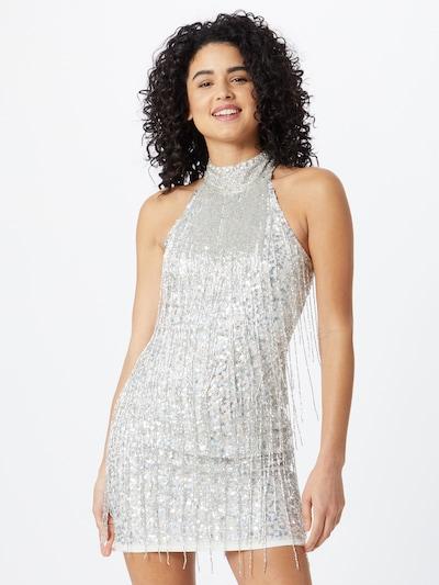 LACE & BEADS Haljina 'Nadia' u srebro / bijela, Prikaz modela