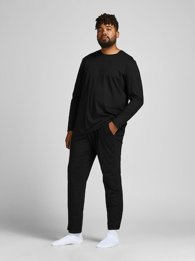 JACK & JONES Pyjama in schwarz, Modelansicht