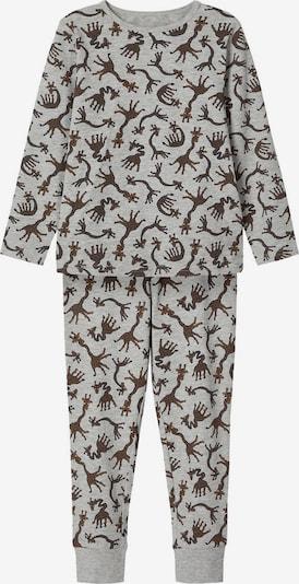 NAME IT Schlafanzug in ocker / graumeliert / schwarz / weiß, Produktansicht
