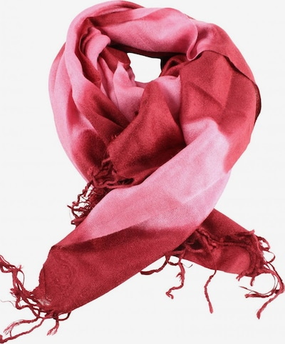 Pashmina Fransenschal in One Size in pink / rot, Produktansicht
