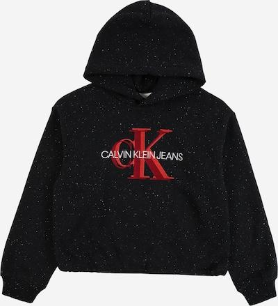Calvin Klein Jeans Mikina - červená / čierna / biela, Produkt
