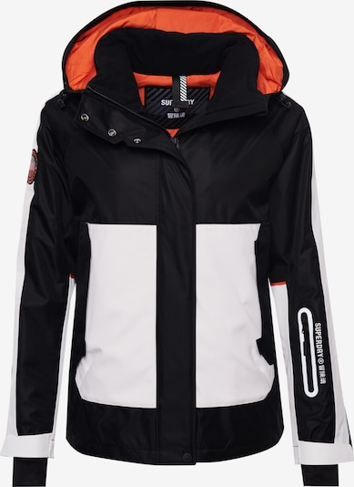 Superdry Snow Sportjacke 'Freestyle Attacker' in orange / schwarz / weiß, Produktansicht