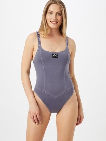 Calvin Klein Swimwear Uimapuku värissä sininen