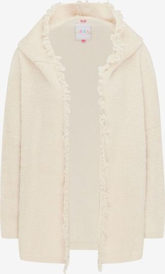 IZIA Pleten plašč | kremna barva, Prikaz izdelka