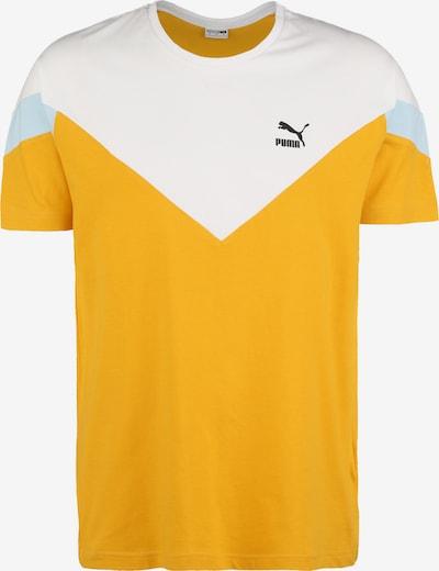 PUMA Shirt 'Iconic MCS' in azur / gelb / weiß, Produktansicht