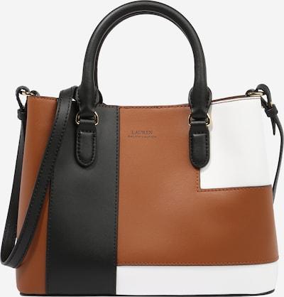 Lauren Ralph Lauren Дамска чанта 'MARCY' в кафяво / черно / бяло, Преглед на продукта