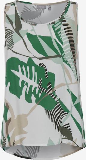 Fransa Blusenshirt in grün / weiß, Produktansicht