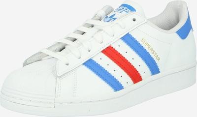 ADIDAS ORIGINALS Låg sneaker 'Superstar' i blå / röd / vit, Produktvy