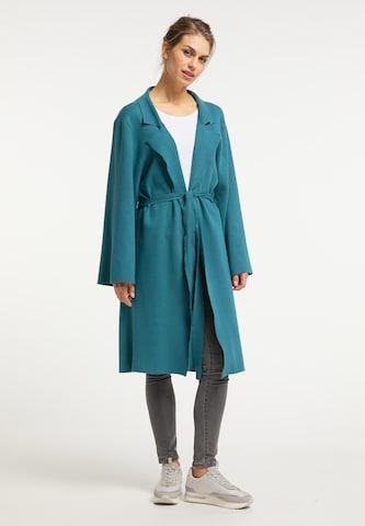 Usha Knitted Coat in Blue