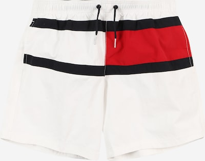 TOMMY HILFIGER Badeshorts in marine / rot / weiß, Produktansicht
