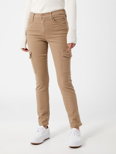 MOTHER Jeans 'The Mid Rise Dazzler' in beige, Modelansicht