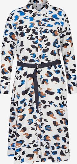 Rock Your Curves by Angelina K. Blusenkleid mit Knopfleiste in blau / weiß, Produktansicht