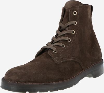 Solovair Nauhasaappaat 'Derby Boot Suede' värissä ruskea, Tuotenäkymä