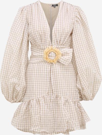 Missguided Tall Kleid in sand / weiß, Produktansicht